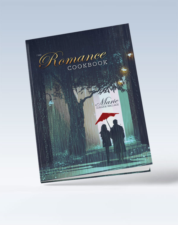 The Romance Cookbook cover, authored by Marie Lukasil Wallace
